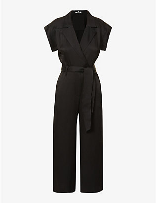 VERONICA BEARD: Ophelia tie-belt crepe jumpsuit