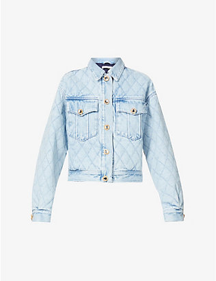 ALESSANDRA RICH: Quilted denim jacket
