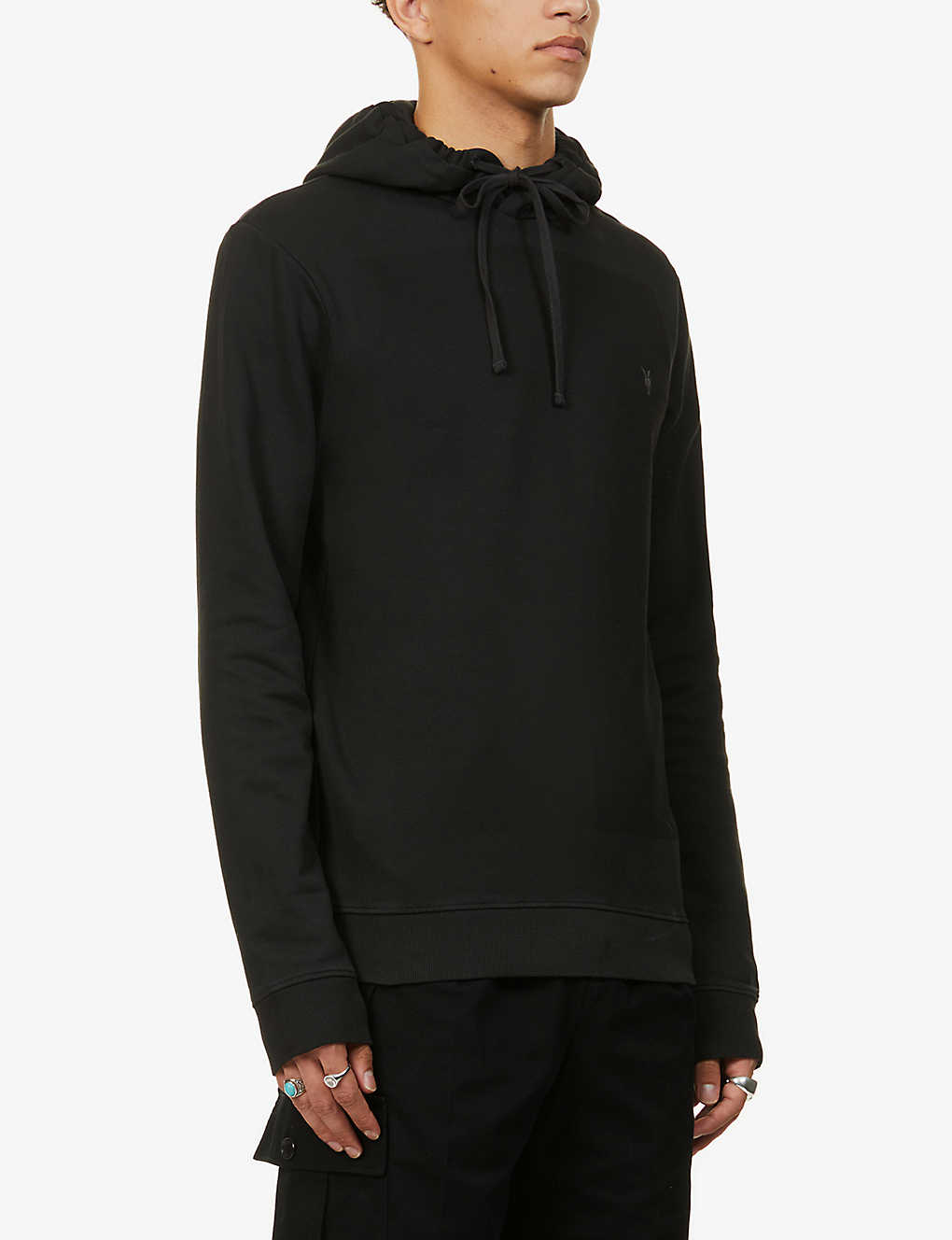 ALLSAINTS: Lobke brand-embroidered cotton-jersey hoody