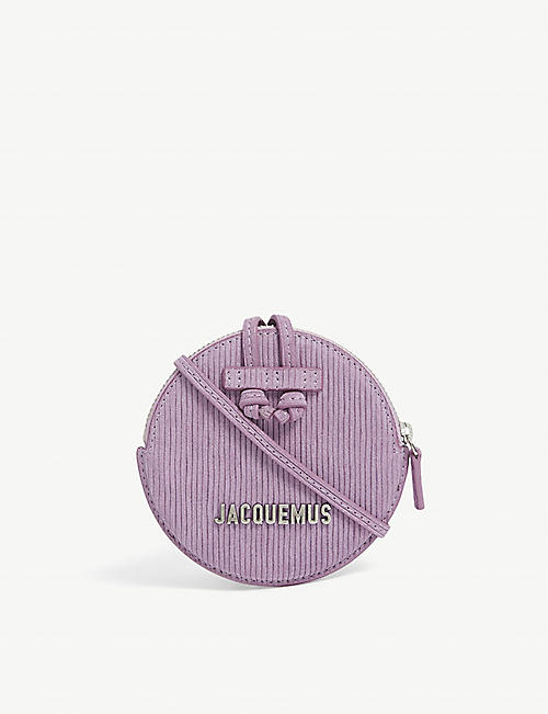 JACQUEMUS: Le Pitchou suede cross-body pouch