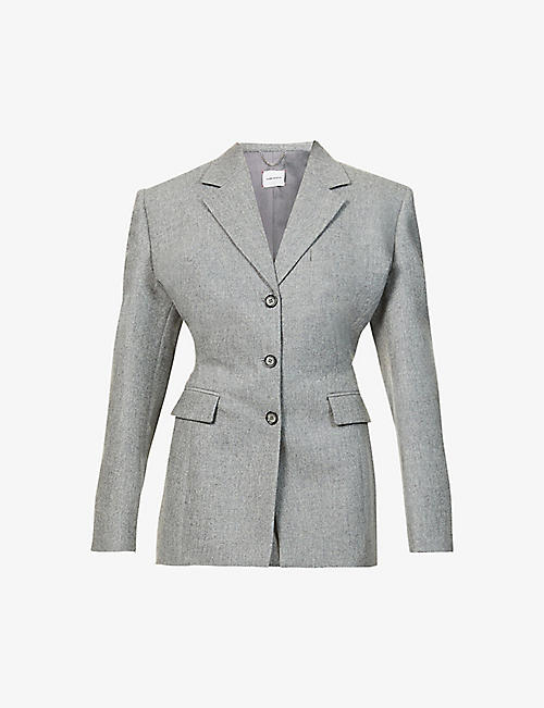 MAGDA BUTRYM: Single-breasted stretch-wool and cashmere-blend blazer