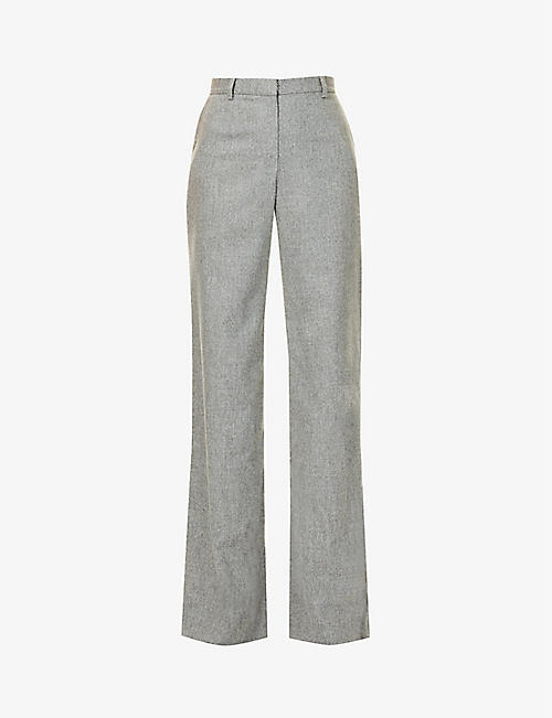 MAGDA BUTRYM: Wide high-rise stretch-wool and cashmere-blend trousers