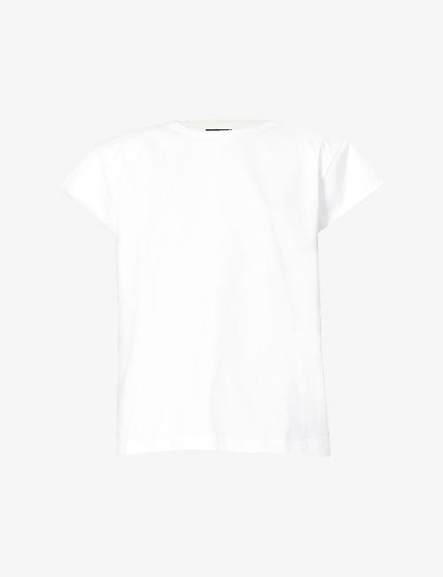 MAGDA BUTRYM: Padded-shoulders cotton-jersey T-shirt
