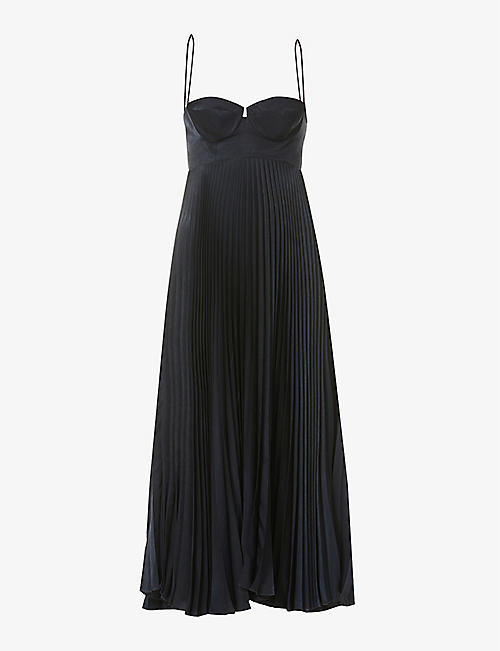 MAGDA BUTRYM: Pleated satin midi dress