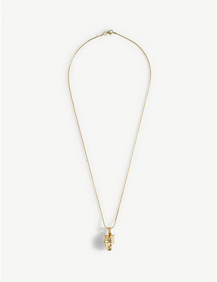 HERMINA ATHENS: Týche gold-plated pendant necklace