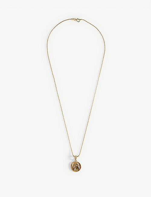 HERMINA ATHENS: Athena yellow gold-plated sterling silver coin pendant