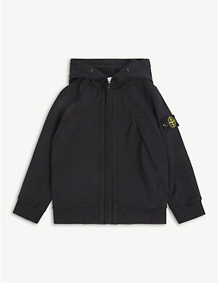 STONE ISLAND: Compass hooded woven jacket 4-14 years