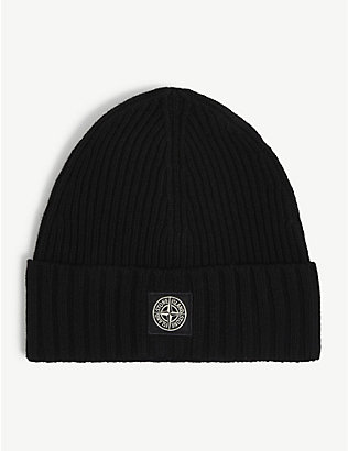STONE ISLAND: Kids patch-logo wool beanie 6-14 years