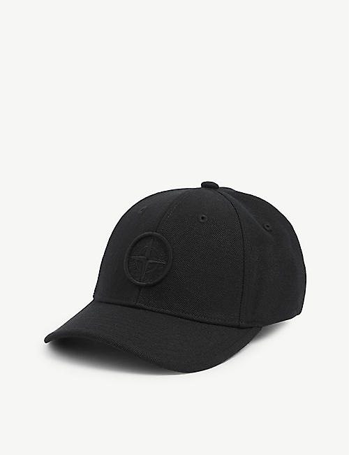 STONE ISLAND: Kids tonal canvas baseball cap 6-14 years