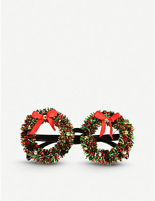 GISELA GRAHAM: Wreath tinsel glasses