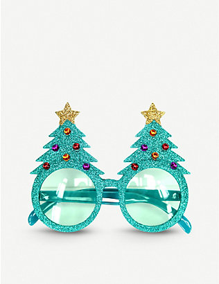 GISELA GRAHAM: Glitter Christmas Tree acrylic novelty glasses