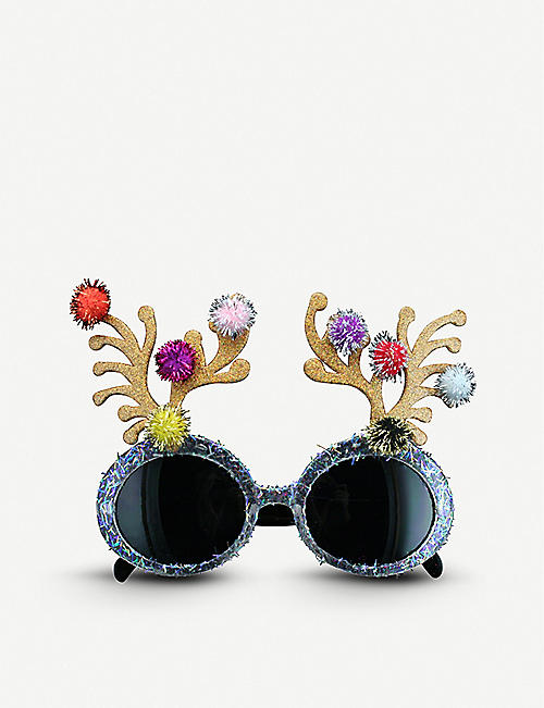 GISELA GRAHAM: Antler acrylic novelty sunglasses