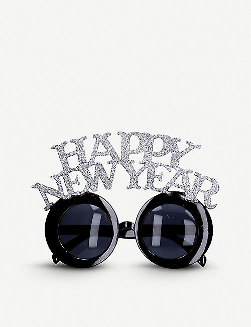 GISELA GRAHAM: Glittered Happy New Year novelty glasses