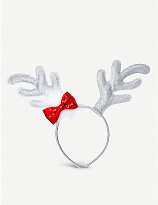 GISELA GRAHAM: Reindeer antlers and bow headband