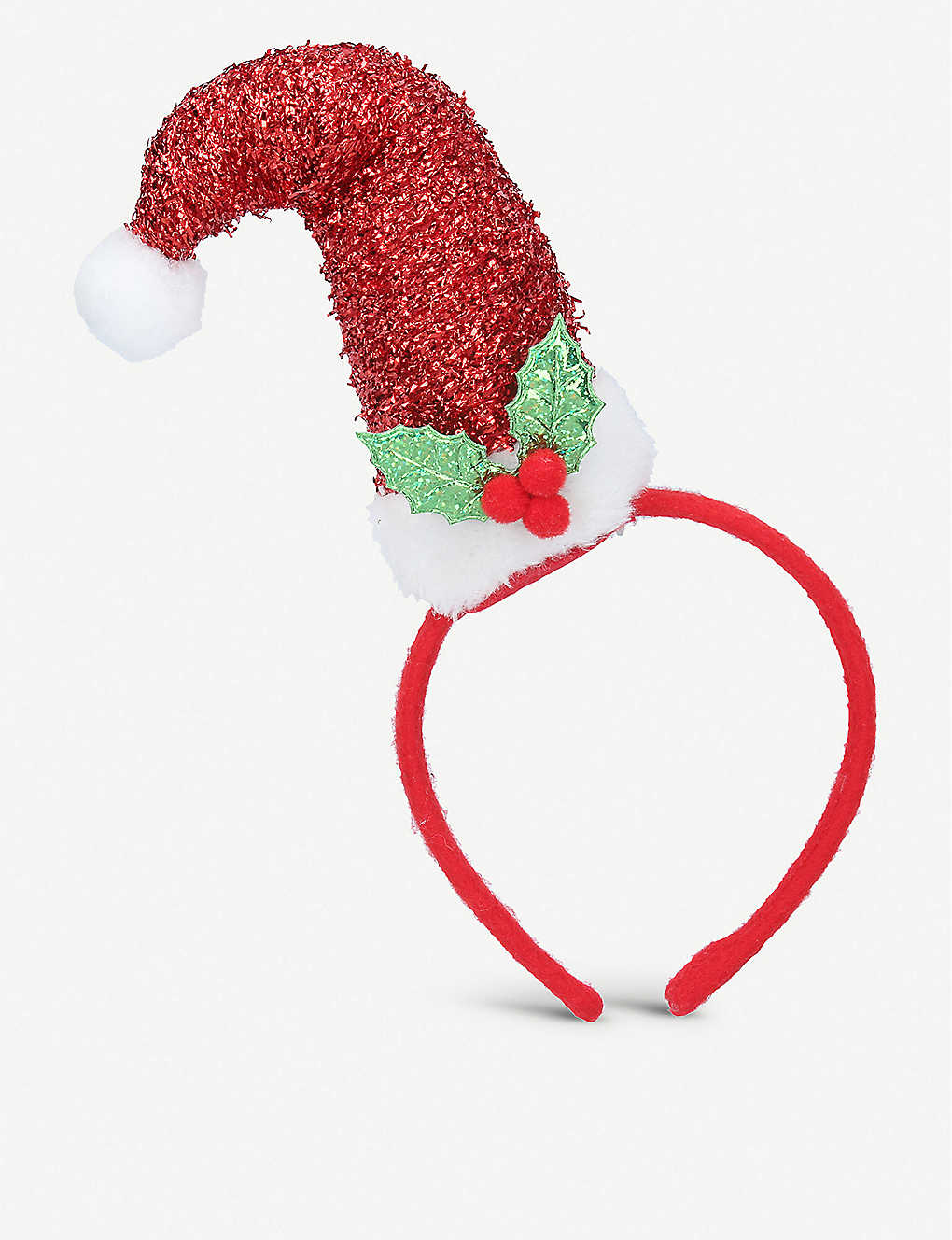 GISELA GRAHAM: Santa hat glittered headband