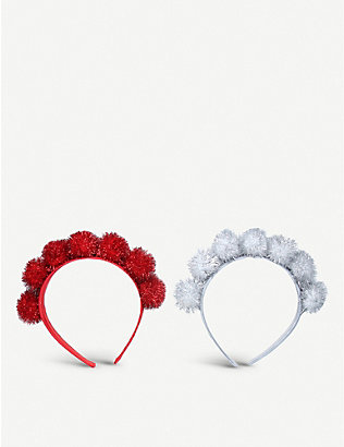 GISELA GRAHAM: Ball tinselled assorted hairbands
