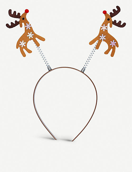 GISELA GRAHAM: Reindeer fabric headband