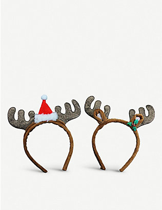 GISELA GRAHAM: Antlers with ears assorted headband