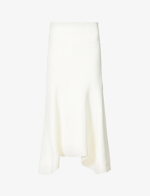 HYUN MI NIELSEN: Flared high-waisted cotton and silk-blend midi skirt