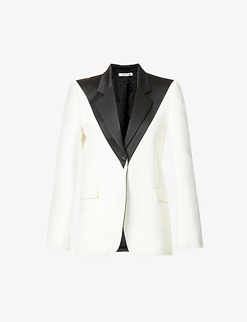HYUN MI NIELSEN: Single-breasted cotton and silk-blend blazer