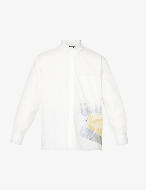 JACQUEMUS: Butter-print cotton shirt