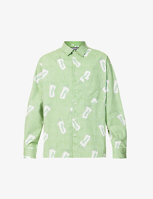 JACQUEMUS: Graphic-print regular-fit cotton shirt