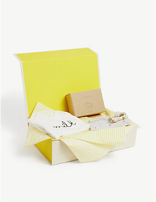SELFRIDGES: Organic Essentials baby gift set hamper