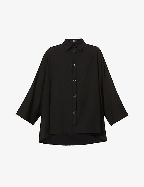 YS: Relaxed-fit cotton shirt