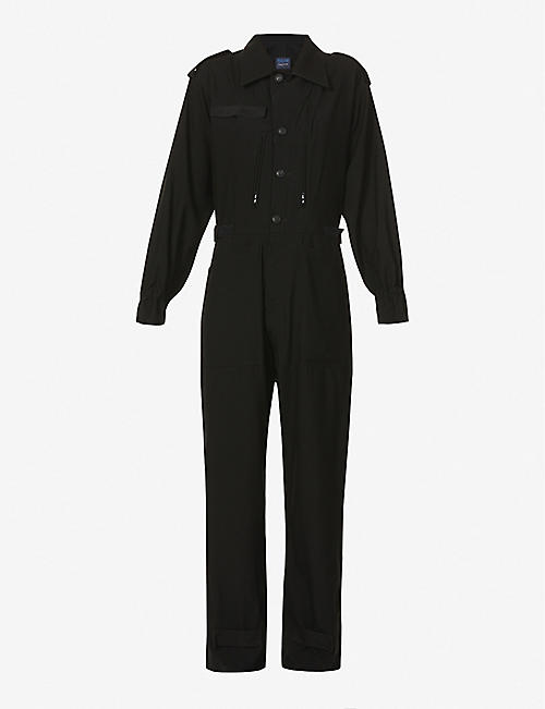 YS: Button-up wool jumpsuit