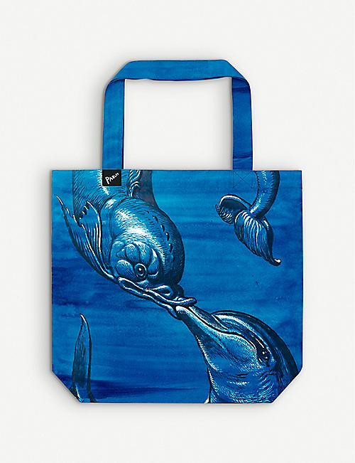 PARLEY FOR THE OCEANS: Parley X Walton Ford Ocean Ocean Plastic® tote bag