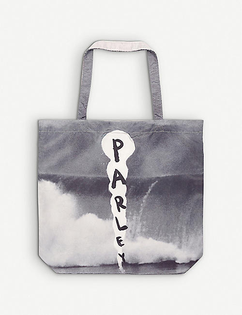 PARLEY FOR THE OCEANS: Parley x Julian Schnabel Ocean recycled-plastic tote bag