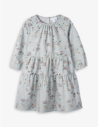 THE LITTLE WHITE COMPANY: Pressed flowers-print cotton dress 1-6 years