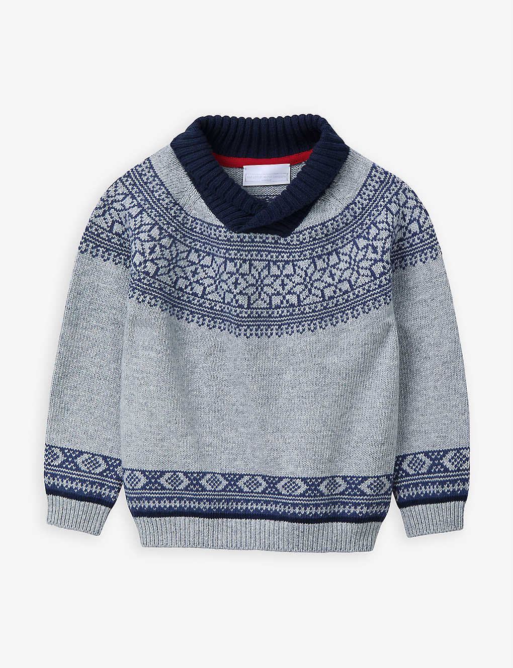 THE LITTLE WHITE COMPANY: Fair Isle knitted cotton-blend jumper 1-6 years