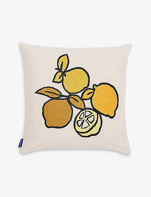 THE CONRAN SHOP: Limone embroidered cushion cover 45cm x 45cm