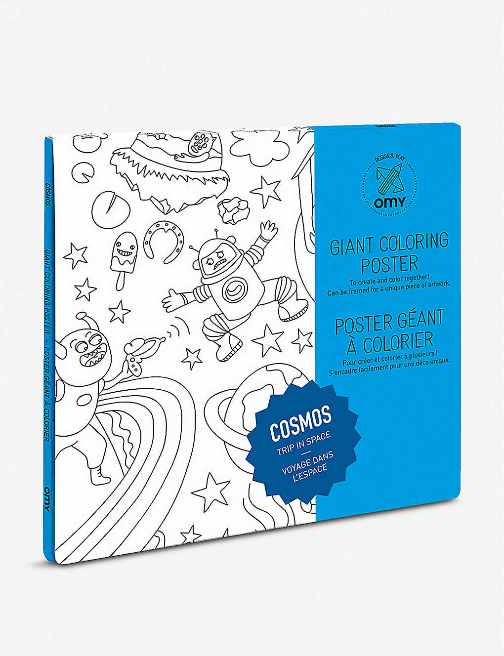 THE CONRAN SHOP: Omy Giant Cosmos recycled-paper colouring poster 70cm x 100cm