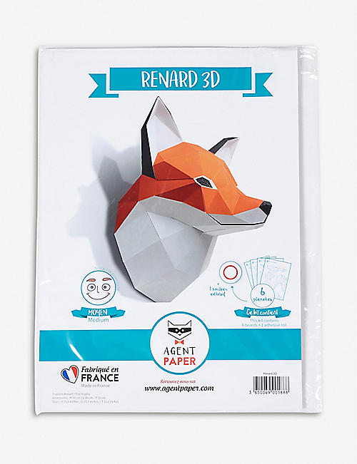 THE CONRAN SHOP: Agent Paper 3D paper fox trophy head