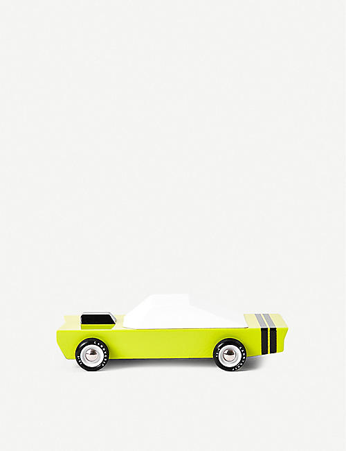 THE CONRAN SHOP: Candylab Green Stinger wooden toy car 18.3cm
