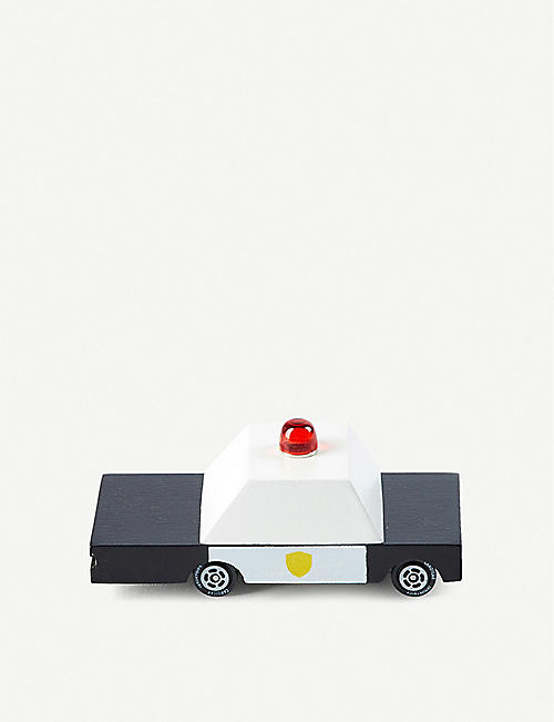 THE CONRAN SHOP: Candylab Police wooden toy car 8.9cm