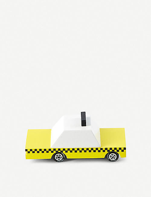 THE CONRAN SHOP: Candylab Yellow Taxi wooden toy car 9cm