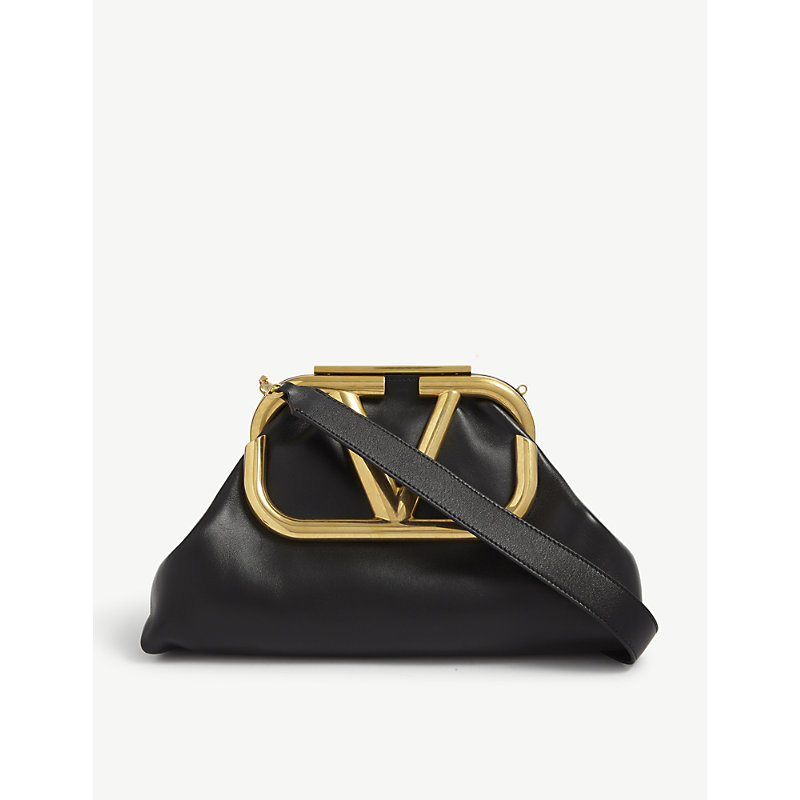Valentino LARGE SUPERVEE LEATHER CLUTCH