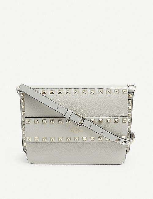 VALENTINO GARAVANI: Rockstud leather cross-body bag