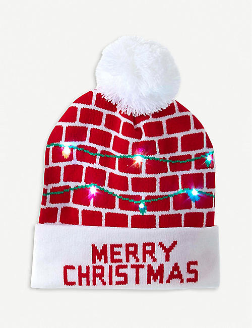 KURT ADLER: LED light-up Santa hat 26cm