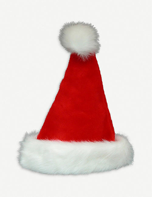 KURT ADLER: Faux fur-trim Santa hat 43cm