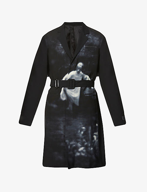 UNDERCOVER: Cindy Sherman graphic-print wool coat