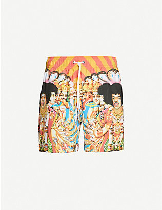 AMIRI: Jimi Hendrix graphic-print swim shorts