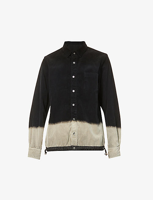 SACAI: Tie-dye regular-fit corduroy shirt