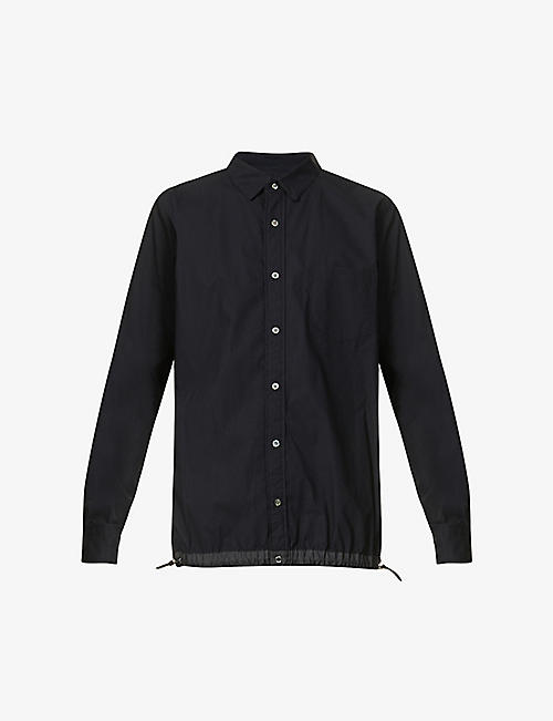 SACAI: Elasticated relaxed-fit cotton shirt