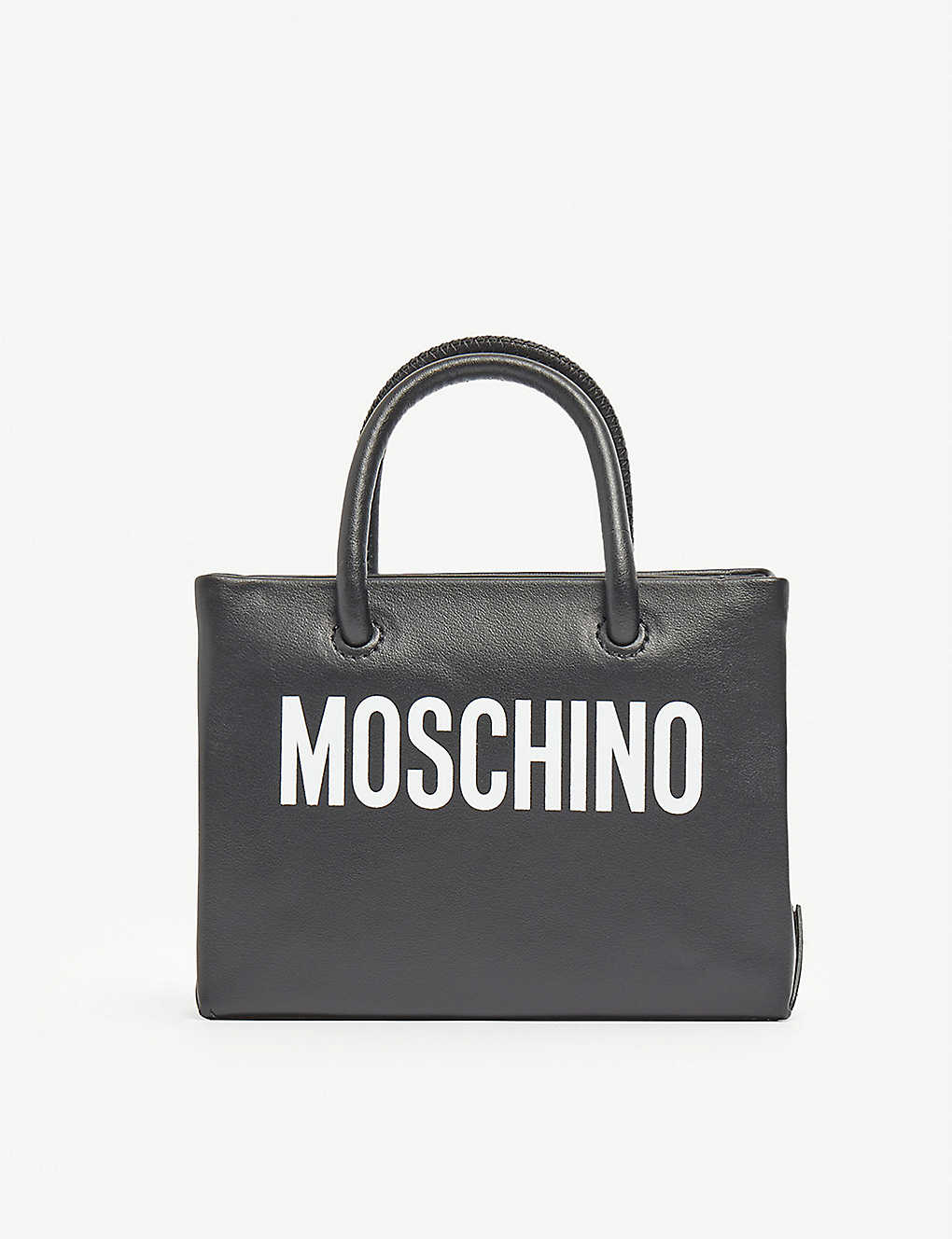 MOSCHINO: Logo-print mini leather cross-body belt bag