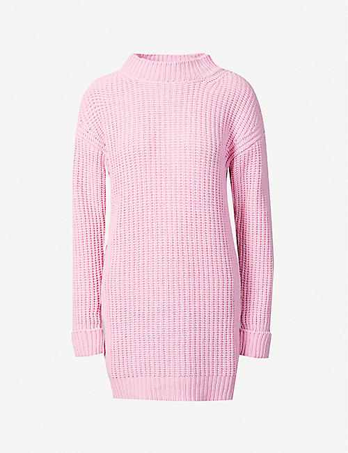 MOSCHINO: Waffle-knit cashmere and virgin wool-blend jumper