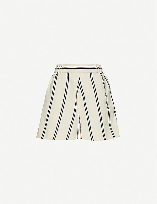 SAMSOE & SAMSOE: Luella striped organic cotton-blend shorts